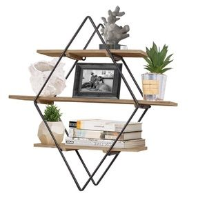 Diamond Floating Shelves for Wall Display Storage